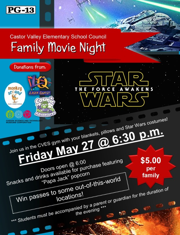 Family Movie Night poster (Star Wars) 2016_05_12